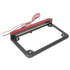 motorcycle license plate frame with led brake light ironwalls motorcycle led license plate frame with brake light plate