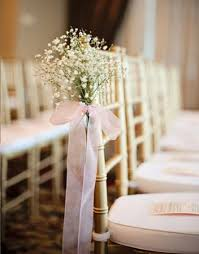 small ceremony aisle babies breath stylish and decoration
