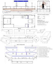 house plan pontoon houseboat floor unusual deck boat plans august