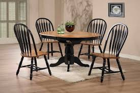 Oak Table With Windsor Back Chairs Arrow Back Solid Oak Side Chair With Black Trim By E C I
