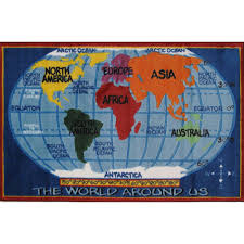 Kids World Map Kids World Map Rug Carpets Rugs And Floors Decoration