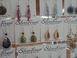 silver forest earrings richland carrousel park