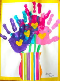 handprint flowers ideas baby handprint ideas