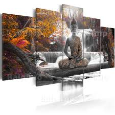 wall art ideas design waterfall meditation buddha wall art