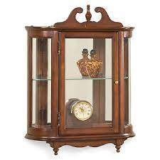 wall mounted curio cabinet westbrook wall mounted curio cabinet plantation cherry finish