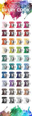 kitchenaid mixer colors the colorful world of kitchenaid stand mixers an infographic