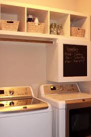 decorating small ikea laundry room with twin wooden floating