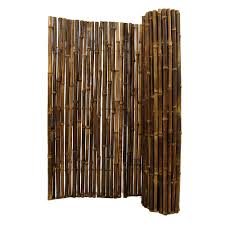 4 Ft Fence Panels With Trellis Backyard X Scapes 1 In D X 4 Ft H X 8 Ft W Black Rolled Bamboo