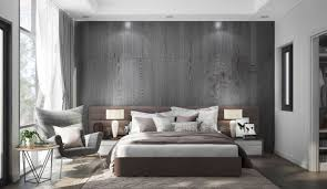 Feature Wall by 42 Gorgeous Grey Bedrooms