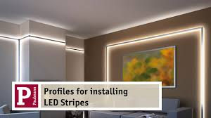led cove lighting profile aluminium profiles for indirect lighting by led strips very easy