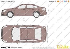 nissan teana 2010 the blueprints com vector drawing nissan teana