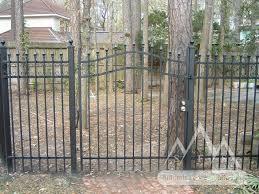 iron fence gate walk gates summit fence south