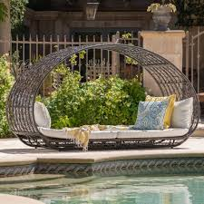 bedford outdoor wicker overhead canopy daybed w water resistant