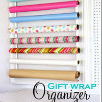 Organize Gift Wrap - what to make with zucchini garlic shrimp zoodles in my own style