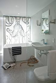 fun shower curtains bathroom contemporary with clear glass