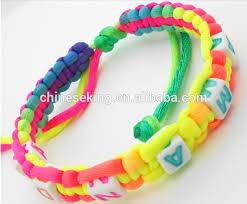 beaded woven bracelet images Custom initial letter bead woven bracelet diy alphabet bead jpg