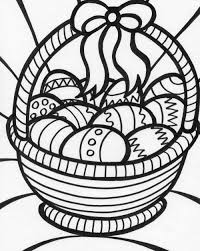 easter bunny with basket coloring pages u2013 happy easter 2017