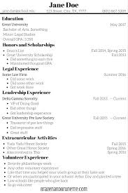 How To Add Volunteer Work On Resume What To Put On A Law Application Resumé Brazen And