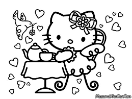 kitty november coloring pages coloring pages kids