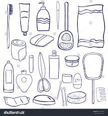 set bathroom accessories personal hygiene care stock illustration