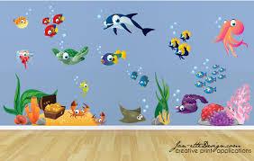 underwater wall stickers custom wall stickers kids wall decalsfish and deep sea treasure fabric wall decal