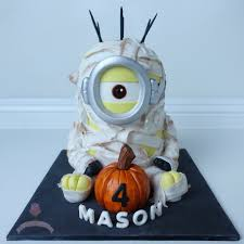 Halloween Mummy Cakes Birthday Boy Satin Ice