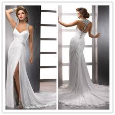 dresses for destination wedding beaded halter racer back chiffon destination wedding