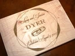 wedding cutting board personalized cutting board laser engraved wedding or anniversary