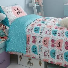 girls teal bedding girls single duvet cover sets bedding unicorn flower horse heart