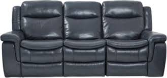 milano blue leather reclining sofa reclining living rooms blue