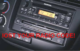 acura radio code decode by vin number radio serial number ebay