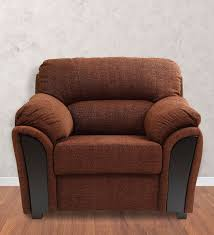 one and a half seater sofa buy martin leather one seater sofa in brown colour by hometown