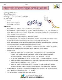 6th grade math games
