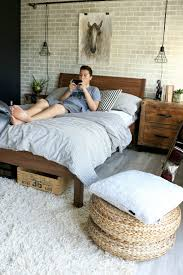 teen boy room reveal teen bedroom makeover faux brick panels