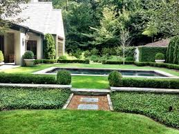 formal backyard garden with boxwoods ideas to decorate your