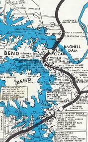 ozarks map 1964 lake map