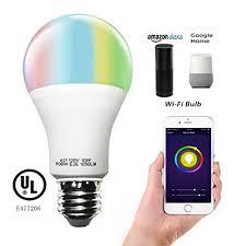 alexa controlled light bulbs smart a21 rgbw tunable warm white color led bulbs 10w cxy wifi