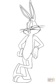 bugs bunny coloring page free printable coloring pages