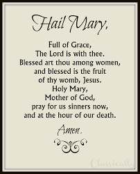 hail mary printable of catholic rosary prayer