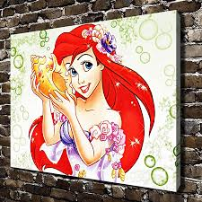 online get cheap little mermaid wall art aliexpress com alibaba a1017 little mermaid children s cartoon film hd canvas print home decoration living room bedroom wall pictures art painting