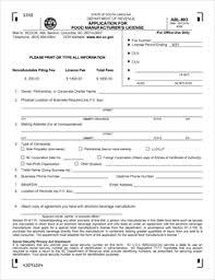 form abl 903 fillable application for food manufacturer