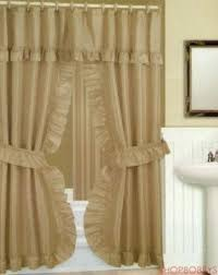 Shower Curtain Matching Window Curtain Set Double Swag Shower Curtain Foter