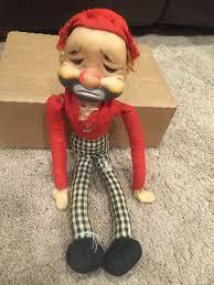 rushton red skelton hobo freddie freeloader rubber face bum doll