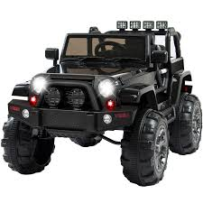 open jeep modified in black colour best choice products 12v ride on car truck w remote control 3
