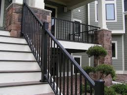 modern interior stair railing set modern stair railing metal