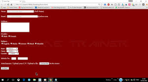 design a html table html tutorials html table design how to add a submit button in