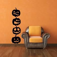 wall halloween decorations pumpkin vinyl wall art decals 4 pack halloween decor pumpkin