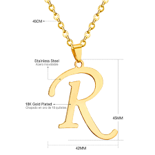 jewelry locket necklace images Luxusteel new arrival trendy alphabet capital r letter pendant jpg