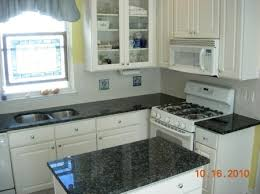 Blue Kitchens With White Cabinets White Kitchen Cabinets Gray Granite Countertops Google Search