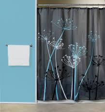 Unique Fabric Shower Curtains Blue Fabric Shower Curtains Gray Floor Pale White Curtain Soft